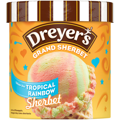 Dreyer's/Edy's Tropical Rainbow Sherbet Ice Cream, 1.5 qt