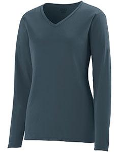 Augusta Drop Ship Girls' Wicking Long-Sleeve T-Shirt