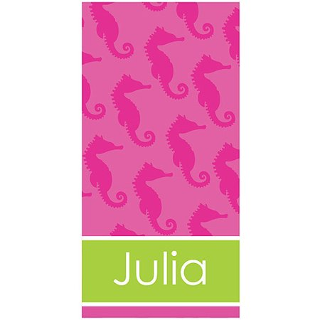 Personalized Sea Horse Beach Towel