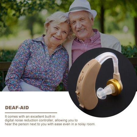 Ear Hearing Aid Kit Adjustable Behind Ear Sound Amplifier Sound Enhancer F-188 - image 3 of 7