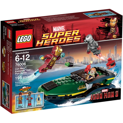 LEGO Super Heroes Iron Man Extremis Sea Port Battle Play