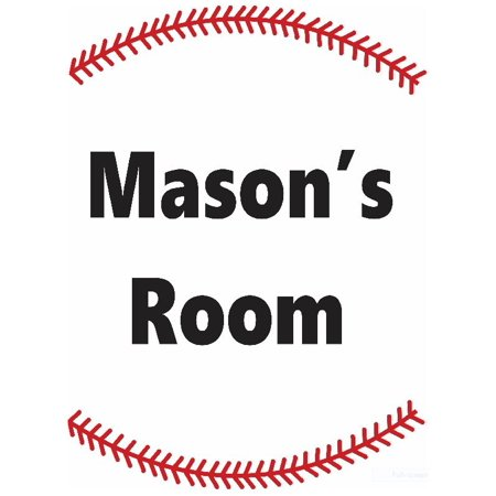 Personalized Name Vinyl Decal Sticker Custom Initial Wall Art Personalization Decor Childrens Boys Bedroom Baseball Sports Welcome Sign 12 Inches X 12 - Baseball Wall Decor