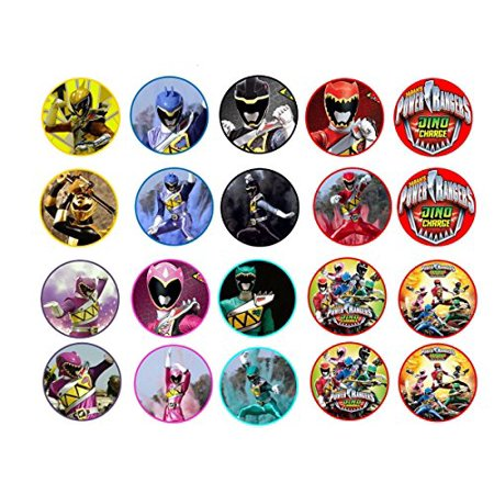 20 Power Rangers Dino Charge Edible Image Cookie or Cupcake Topppers (Frosting (Edible Frosting Sheets)