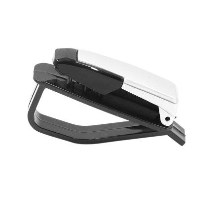 Silver Tone Multifunctional Car Sun Visor Card Ticket Glasses Sunglasses Holder Sunglasses Holder Cap
