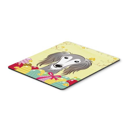Carolines Treasures BB1911MP Saluki Easter Egg Hunt Mouse Pad, Hot Pad or