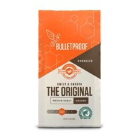 Bulletproof Ground Coffee, Premium Medium Roast Gourmet Organic Beans, Rainforest Alliance Certified, Perfect for Keto Diet, Upgraded Clean Coffee (12 Ounces)