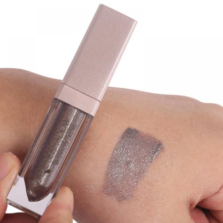 Acenx Liquid Eye Shadow, Shimmer Glitter Nude Metals Glow Eyeshadow Palette Waterproof Lasting Highlighter Beauty Makeup #7