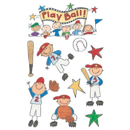 me & my BiG Ideas Minis Stickers  Baseball Kids, - Baseball Prom Ideas