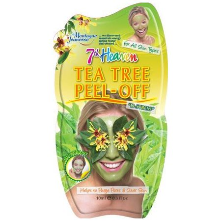 5 Pack 7th Heaven Face Tea Tree Peel Off Mask Minimises & Refines Pores 1