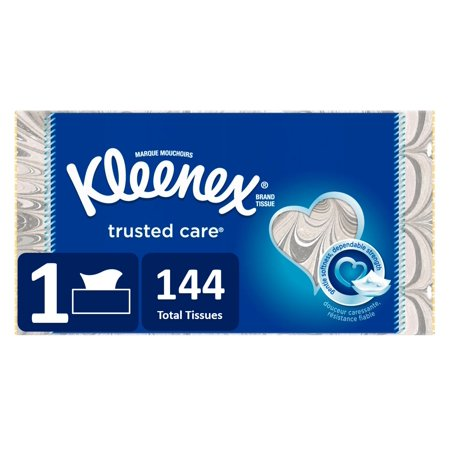Kleenex Trusted Care Facial Tissue, 144 Sheets