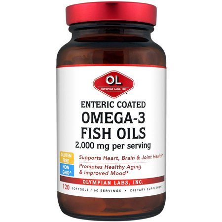 Olympian labs omega 3 fish oils enteric coated softgels for Enteric coated fish oil