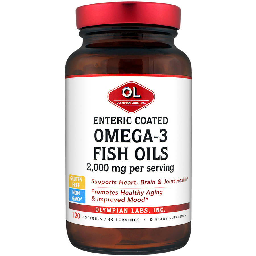 Olympian Labs Omega 3 Fish Oils Enteric Coated Softgels, 120ct