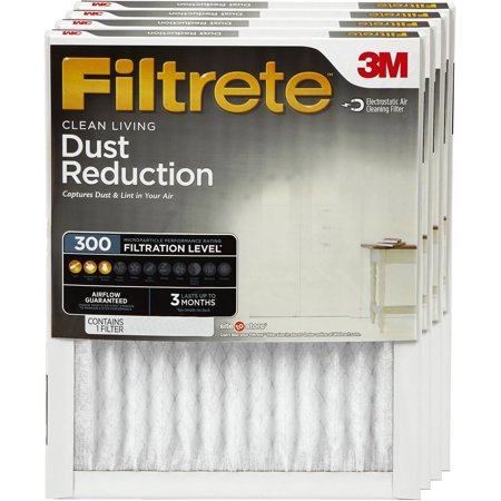 6 Pack Filtrete Dust Reduction Air and Furnace Filter, 300 MPR, 16 x 25 in ()