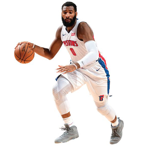 Andre Drummond Detroit Pistons Fathead Life Size Removable Wall Decal - No Size