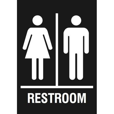 Family Restroom Black Sign   Men Women Bathroom Signs. Family Restroom Black Sign   Men Women Bathroom Signs   Walmart com