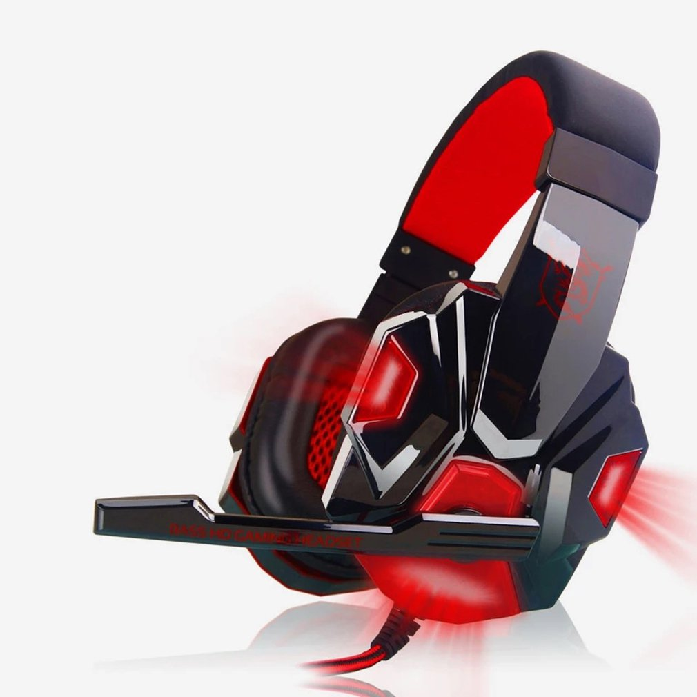 3.5mm Cool Surround Stereo Gaming Headset Headband Headphone with Mic for PC Noise Cancelling Gaming Headset