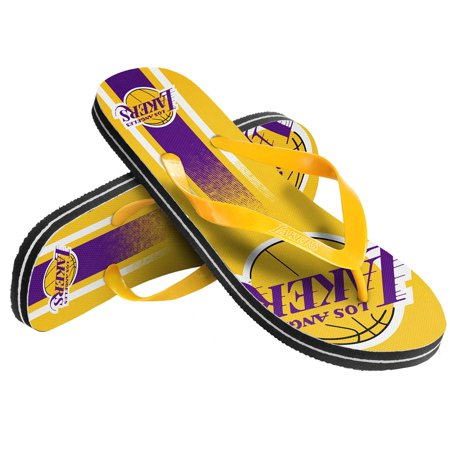 Los Angeles Lakers Gradient Big Logo Flip Flops  Yellow