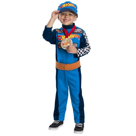 Boys Hot Wheels Driver Halloween Costume Jumpsuit