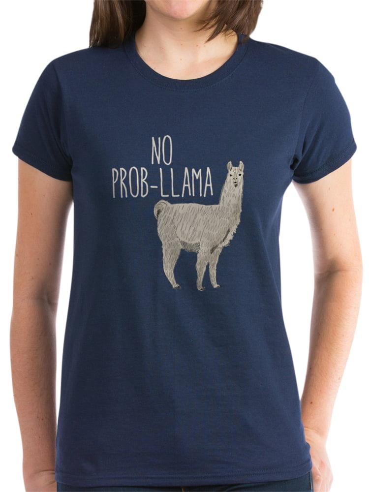 CafePress Not My Prob Llama T Shirt Cotton T-Shirt