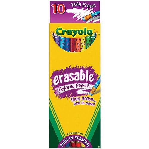 Crayola Erasable Colored Pencils, 10-Pack