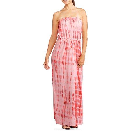 Faded Glory Women S Tye Dye Strapless Maxi Dress