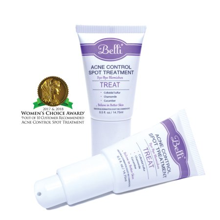 Belli Pregnancy Safe Acne Control Spot Treatment (0.5 Ounces) - Clear Blemishes & Prevent Breakouts - Tea Tree Oil, Chamomile, and Colloidal
