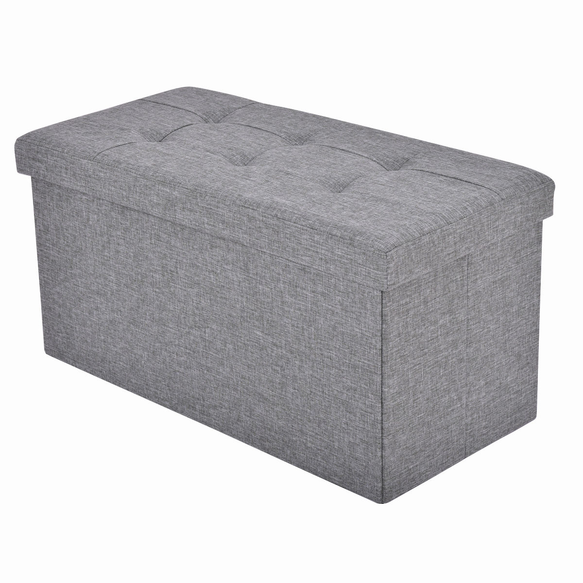 Peachy Folding Rect Ottoman Bench Storage Stool Box Footrest Furniture Decor Light Gray Gmtry Best Dining Table And Chair Ideas Images Gmtryco