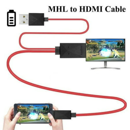 Micro USB To HDMI 1080p Cable TV AV Adapter Mobile Phones Tablets