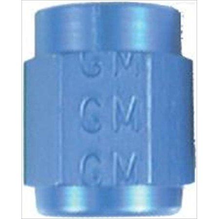 Anodized Aluminum Prop Nut - AEROQUIP FCM3554 Blue Anodized Aluminum -3An Tube Nuts