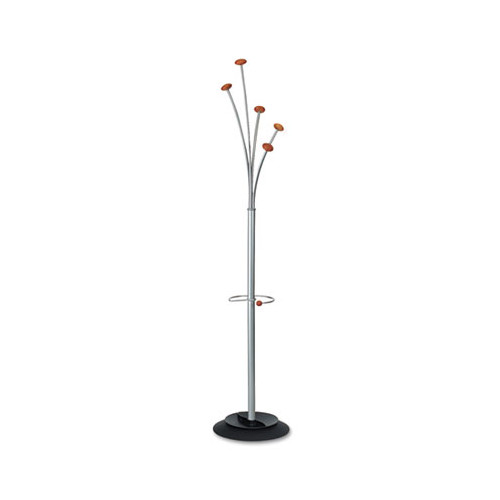 Alba, Inc Festival Coat Tree with Umbrella Holder, Five Knobs, Metal Wood by Alba
