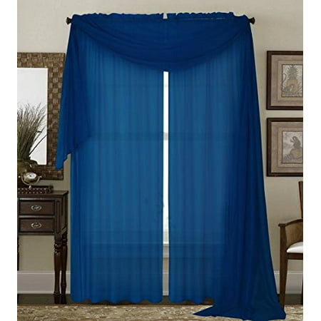 Linen Window Panel (Qutain Linen Solid Viole Sheer Curtain Window Panel Drapes 55