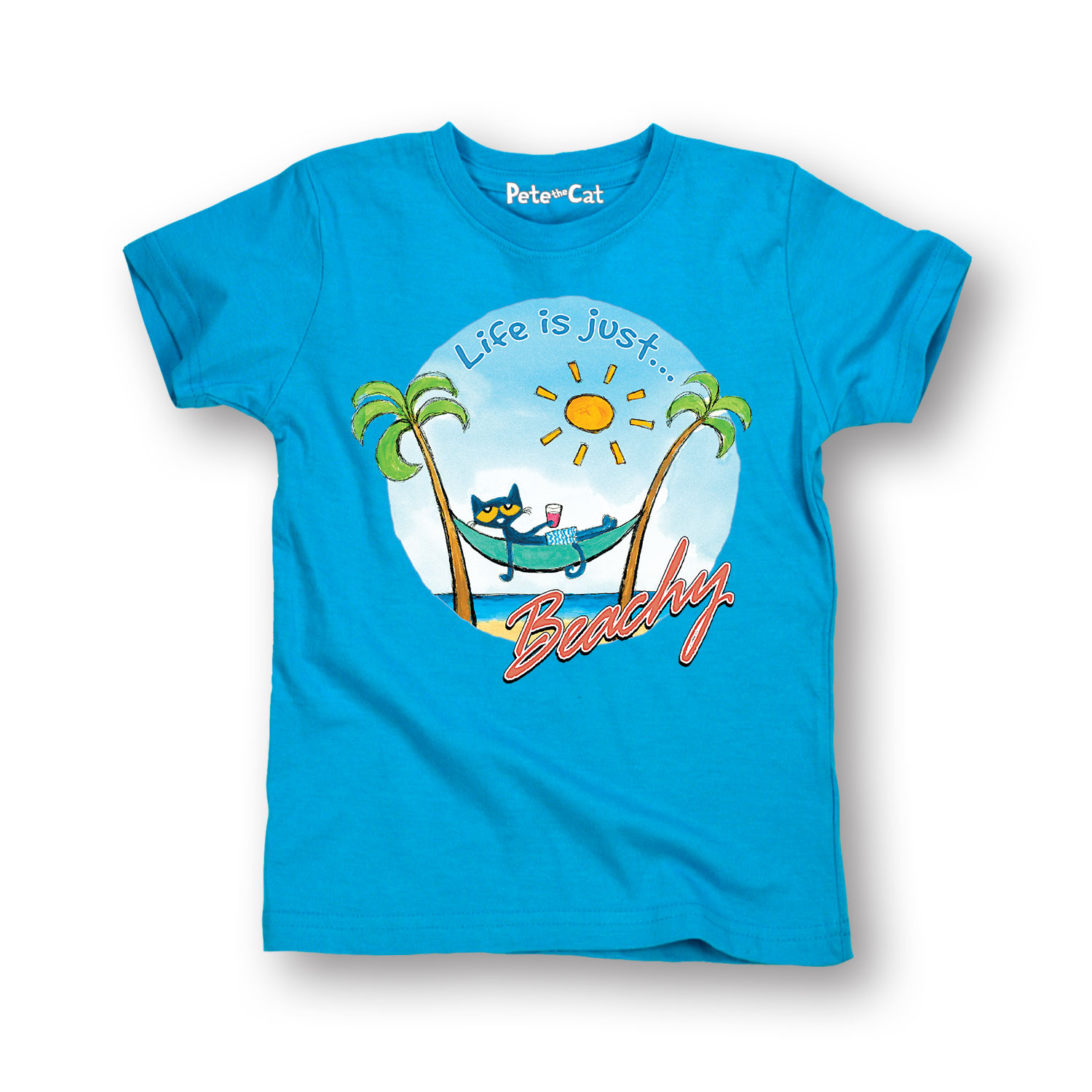 Pete The Cat Life Is Just Beachy - Toddler Short Sleeve Tee