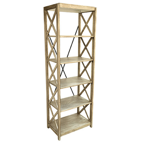 Crestview Collection Brookline Tall 72'' Etagere Bookcase