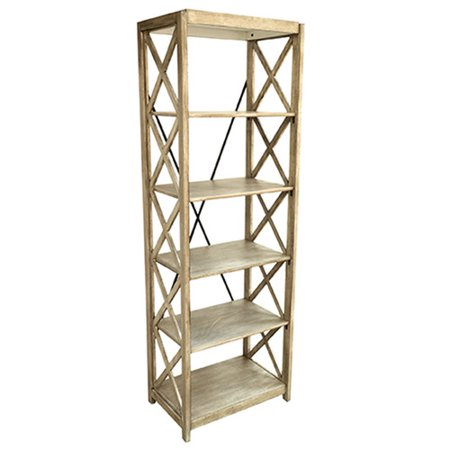 Crestview Collection Brookline Tall 72 Etagere Bookcase