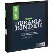 Pen + Gear Durable View 3-Ring Binder with 1-inch D Rings (Black)