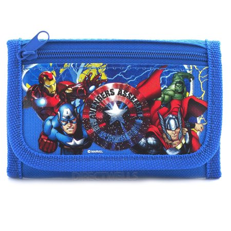 Avengers Blue Trifold Wallet
