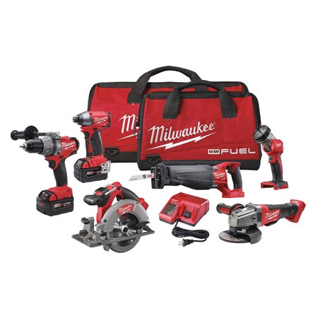 Milwaukee Electric Tool - 2896-26 - M18 FUEL Cordless Combination Kit, 18.0 Voltage, Number of Tools 6