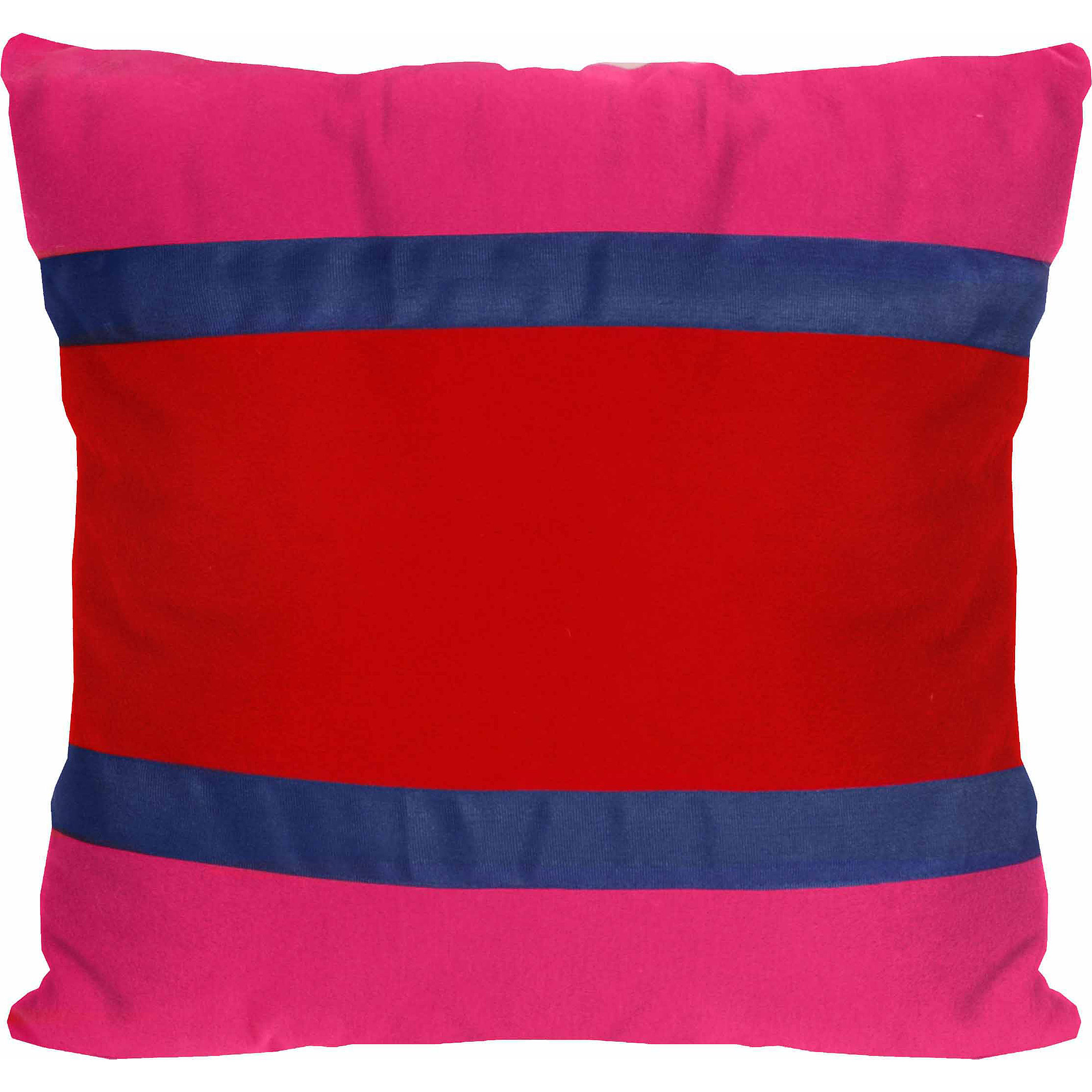 Teen Vogue Sweet Liberty Banded Stripe Decorative Pillow, Pink