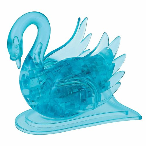 3D Crystal Puzzle, Blue Swan by BePuzzled