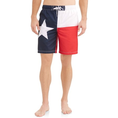 9e18316ab1 George - Men's Texas Flag Swim Trunk - Walmart.com