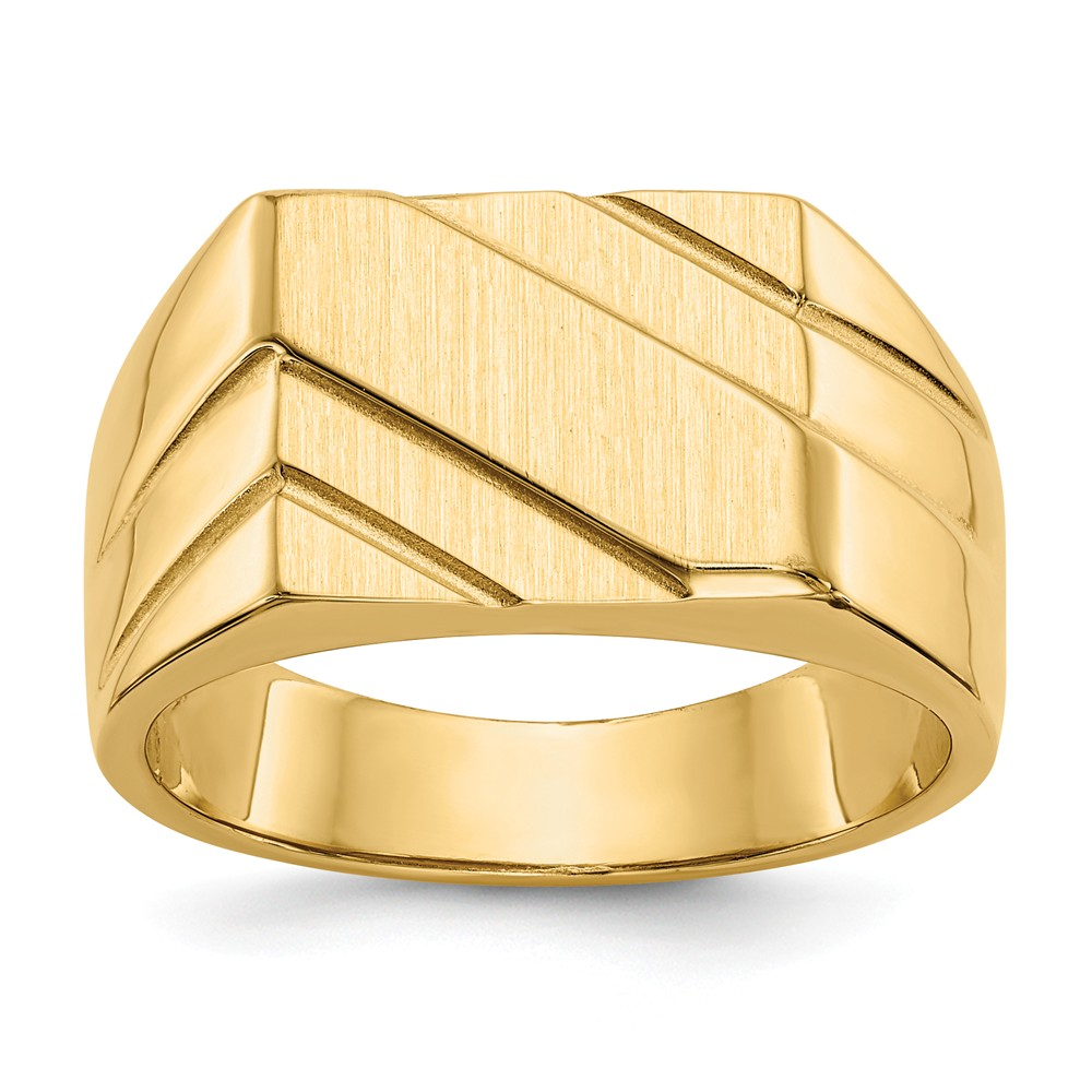Mia Diamonds 14k White Gold Signet Ring