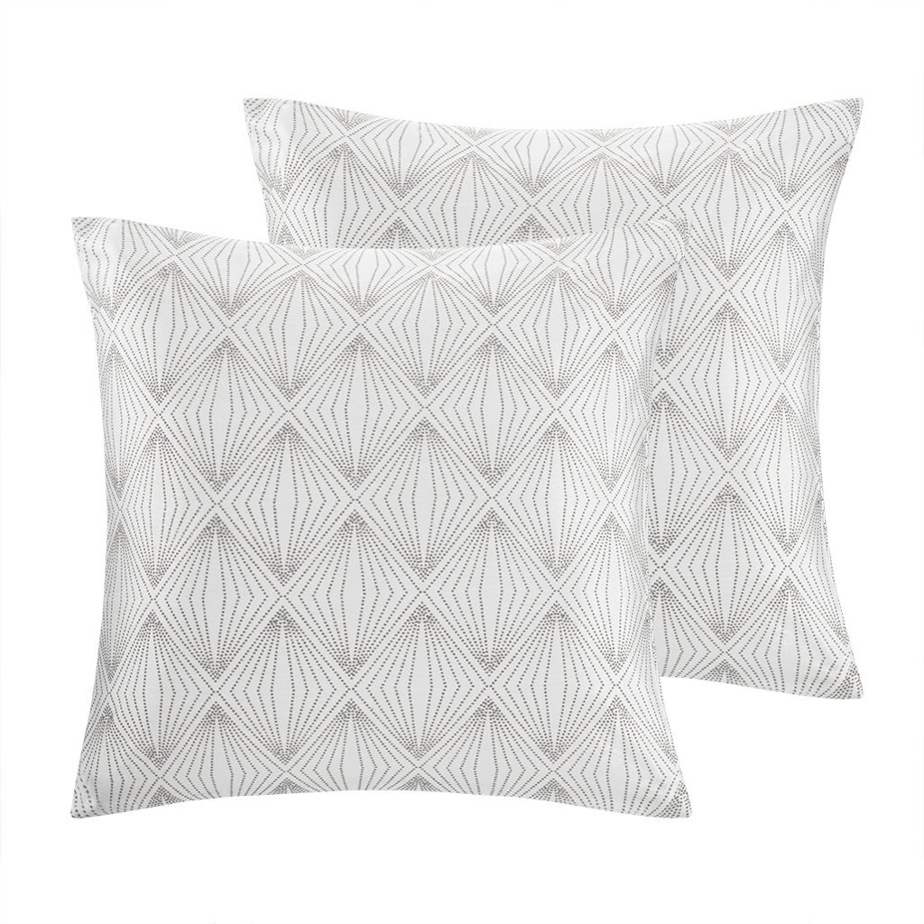 """Krystal Metallic Faux Silk Dec Pillow Pair Silver 20x20"""", Update your home décor with the radiance of our Madison Park Krystal Metallic Pillow Pair. Luxurious.., By Madison Park"""