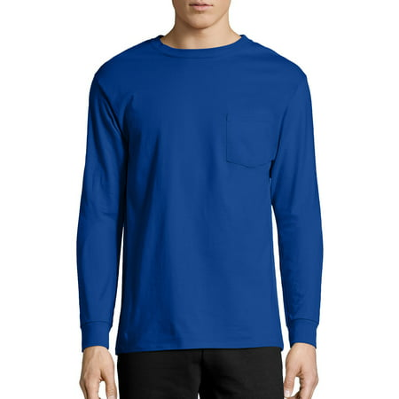 Hanes Men's Tagless Long Sleeve Pocket Tee (Dancer Long Sleeve Shirt)