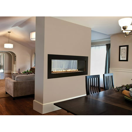 "American Hearth Boulevard 48"" Linear See-Through Vent Free Fireplace, Intermittent Pilot, 40,000 BTU, Natural Gas"