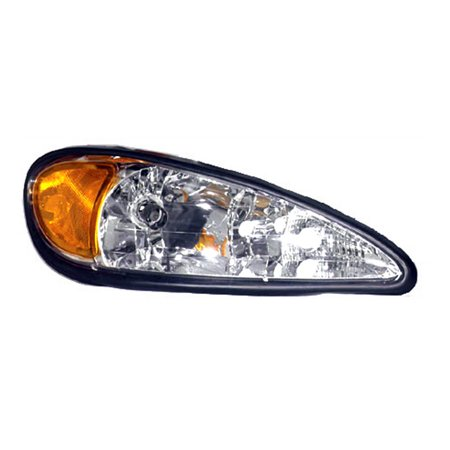 Aftermarket 1999-2005 Pontiac Grand Am  Passenger Side Right Head Lamp Lens and Housing 22672208-V