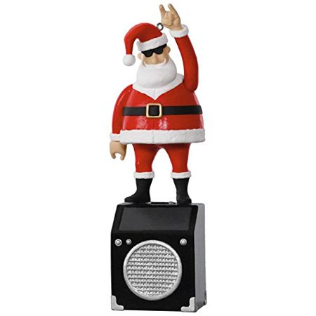 Hallmark Keepsake 2017   Nothin But A Good Time Rockin Santa Solar Motion Musical Ornament