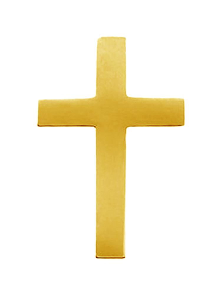 14K Yellow Gold Latin Cross Pin Brooch by