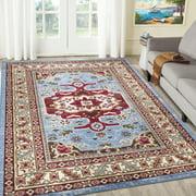 A2Z Qashqai 5578 Tapis Médaillon Méditerranéen de Style Persan Pour Petite Chambre à Coucher