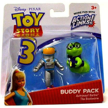 Toy Astronaut Figures (Astronaut Barbie & The Bookworm Mini Figure 2-Pack Toy Story)