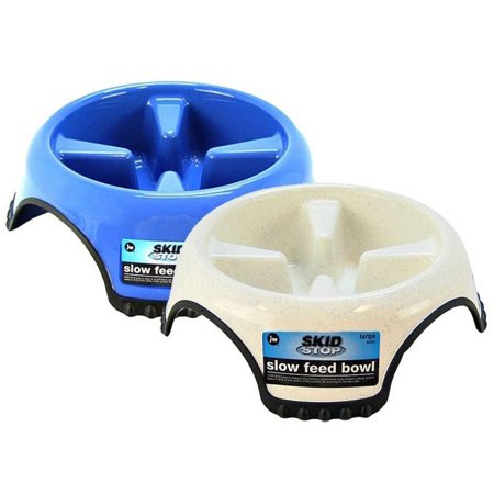 JW Pet Skid Stop Slow Feed Bowl, Medium, Assorted